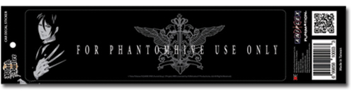Black Butler 2 Sebastian Decal Sticker officially licensed product at B.A. Toys.