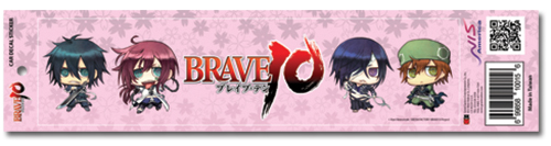 Brave 10 Saizo Auto Decal Sticker, an officially licensed Brave Ten product at B.A. Toys.