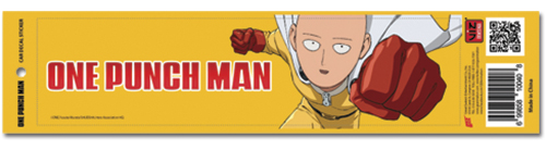 One Punch Man - Saitama Flying Auto Decal