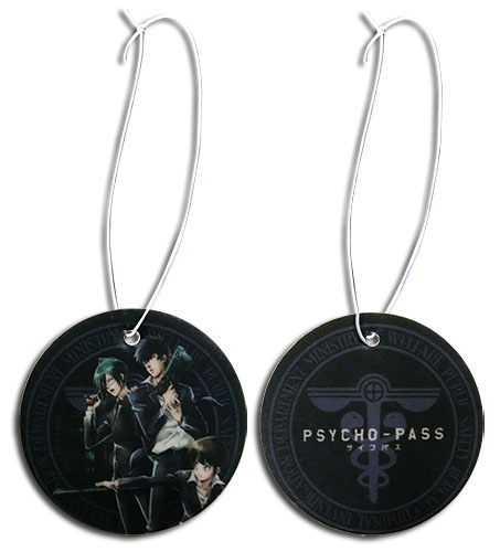 Psycho Pass - Black Group Air Freshener, an officially licensed Psycho-Pass product at B.A. Toys.