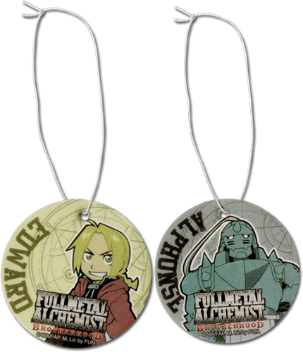 Full Metal Alchemist Brotherhood - Edward & Al Air Freshener officially licensed Fullmetal Alchemist Costumes & Accessories product at B.A. Toys.