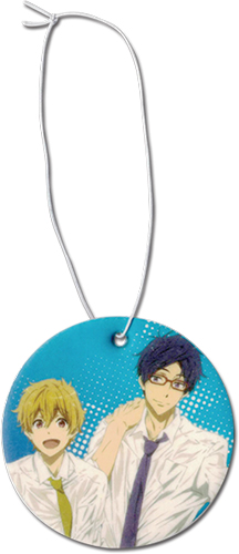 Free! 2 - Nagisa & Rei Air Freshner, an officially licensed Free! product at B.A. Toys.