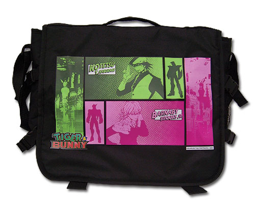 Tiger & Bunny Kotetsu & Barnaby Panel Messenger Bag, an officially licensed product in our Tiger & Bunny Bags department.