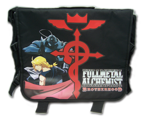 Full Metal Alchemist Brotherhood Elrics With Flamel's Cross Messenger Bag officially licensed product at B.A. Toys.
