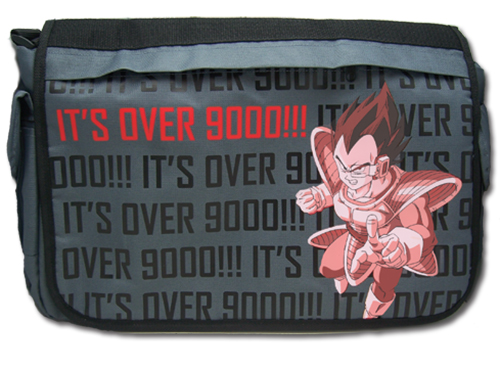 Dragon Ball Z Its Over 9000! Messenger Bag, an officially licensed Dragon Ball Z product at B.A. Toys.