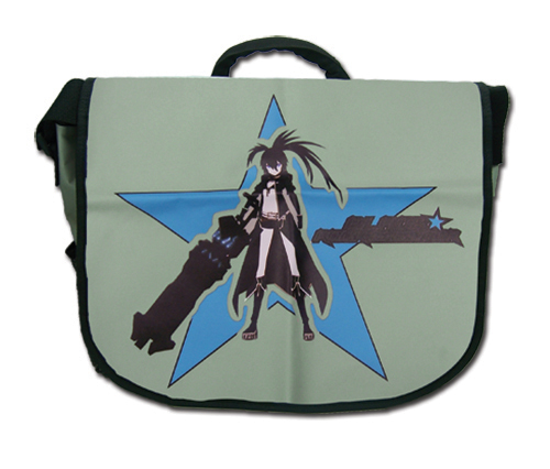 Black Rock Shooter Black Rock Shooter Star Messenger Bag, an officially licensed Black Rock Shooter product at B.A. Toys.
