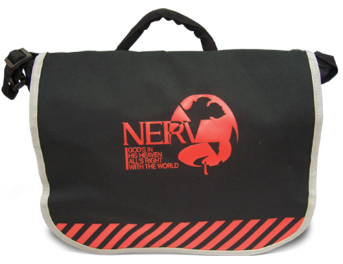 Evangelion New Movie - Nerv Logo Bag officially licensed Evangelion Bags product at B.A. Toys.