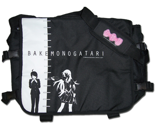 Bakemonogatari Hitagi & Araragi Messenger Bag, an officially licensed Bakamongatari Bag