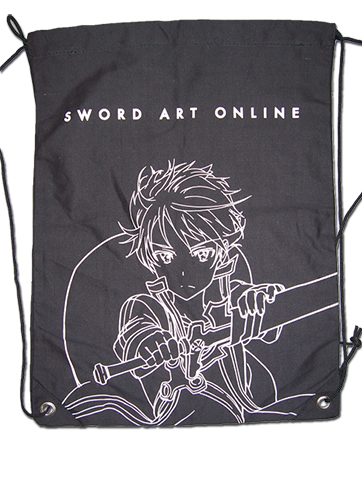 Sword Art Online Kirito Drawstring Bag officially licensed Sword Art Online Bags product at B.A. Toys.