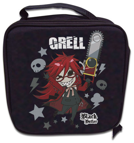 Black Butler Grell Lunch Bag officially licensed product at B.A. Toys.