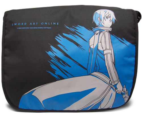 Sword Art Online Kirito Messenger Bag officially licensed Sword Art Online Bags product at B.A. Toys.