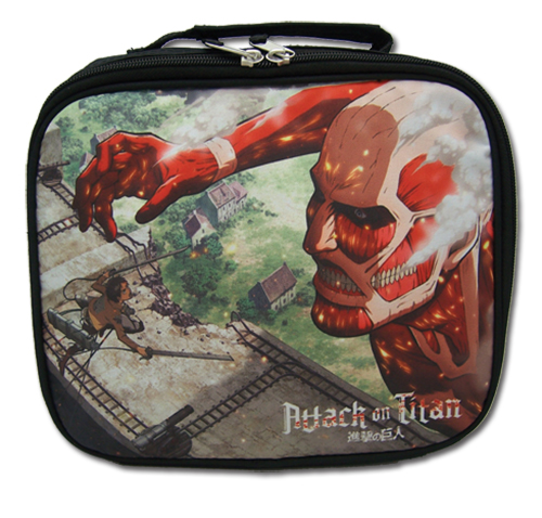 Attack On Titan - Attacking Titan Lunch Bag, an officially licensed Attack On Titan product at B.A. Toys.