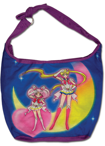 Sailor Moon Super S - Two Main Characters Hobo Bag, an officially licensed product in our Sailor Moon Bags department.