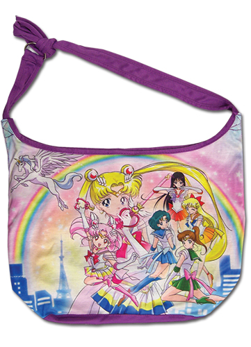 Sailor Moon Super S - Group Of Main Characters Hobo Bag, an officially licensed product in our Sailor Moon Bags department.