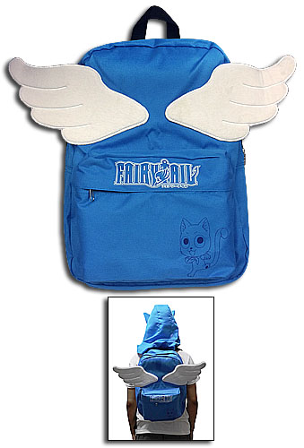 Fairy Tail - Happy Hooded Backpack, an officially licensed product in our Fairy Tail Bags department.