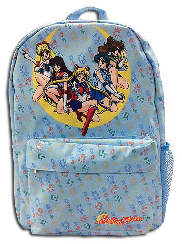 Sailor Moon - Sailor Soldiers Sailor Icons Back Pack, an officially licensed product in our Sailor Moon Bags department.
