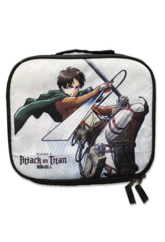 Attack On Titan S2 - Eren Lunch Bag, an officially licensed product in our Attack On Titan Bags department.