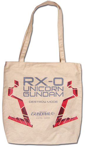 Gundam Uc - Unicorn Gundamn Tote Bag, an officially licensed product in our Gundam Uc Bags department.