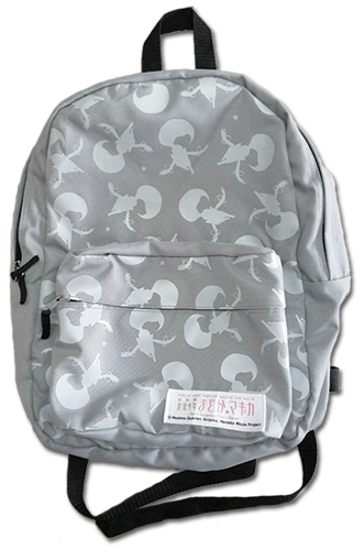 Madoka Magica - Kyubey Pattern Backpack Bag, an officially licensed Madoka Magica product at B.A. Toys.
