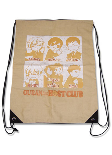 Ouran High School Host Club - Group Drawstring Bag, an officially licensed product in our Ouran High School Host Club Bags department.