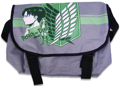 Attack On Titan Levi Green Messenger Bag, an officially licensed product in our Attack On Titan Bags department.
