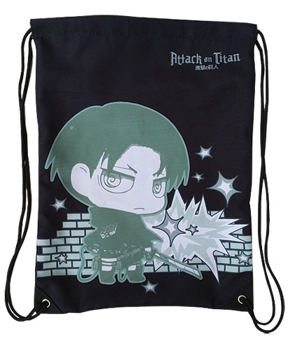 Attack On Titan - Levi Drawstring Bag, an officially licensed product in our Attack On Titan Bags department.