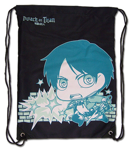 Attack On Titan - Titan & Even Drawstring Bag, an officially licensed Attack On Titan product at B.A. Toys.