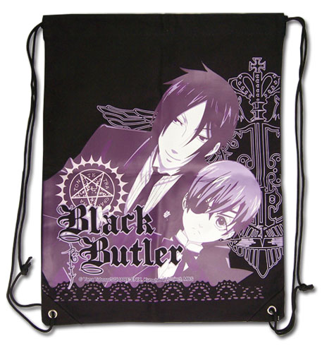Black Butler Group Drawstring Bag, an officially licensed Black Butler product at B.A. Toys.