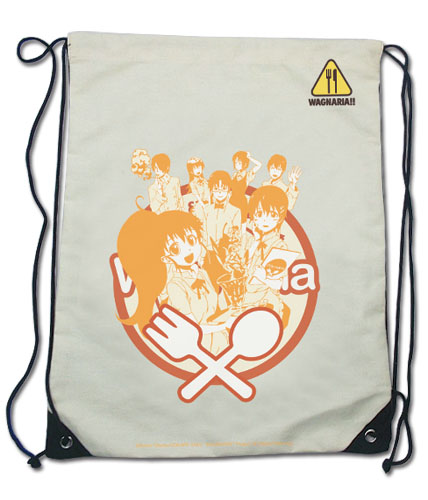 Wagnaria!! - Group Drawstring Bag, an officially licensed product in our Wagnaria!! Bags department.