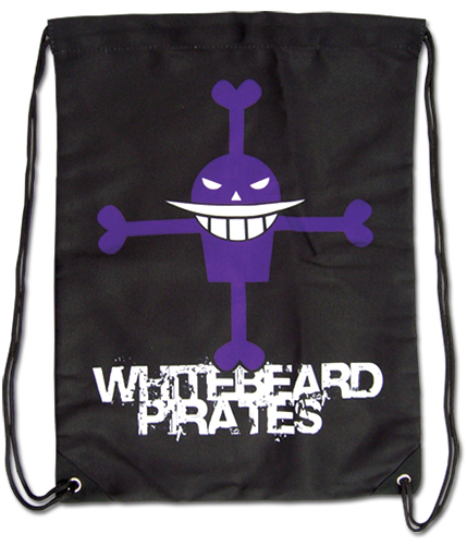 One Piece - Whitebeard Pirates Drawstring Bag, an officially licensed product in our One Piece Bags department.