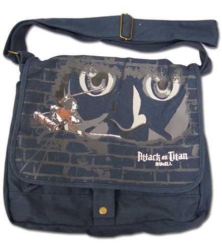 Attack On Titan - Eren & Titan Messenger Bag, an officially licensed product in our Attack On Titan Bags department.