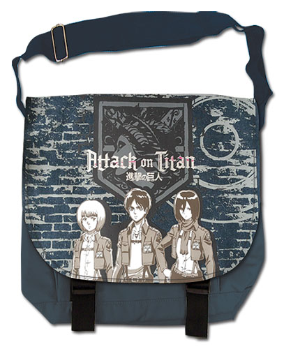 Attack On Titan - Group & Wall Messenger Bag, an officially licensed Attack On Titan product at B.A. Toys.