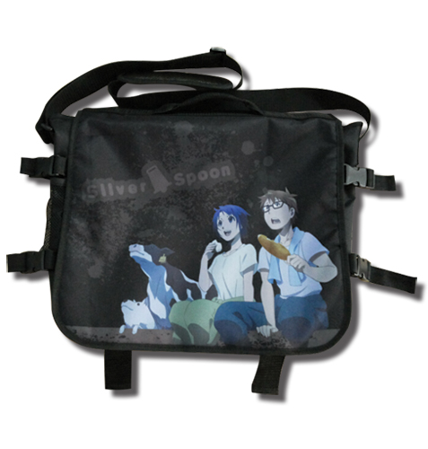Silver Spoon - Hachiken And Aki Messenger Bag, an officially licensed product in our Silver Spoon Bags department.
