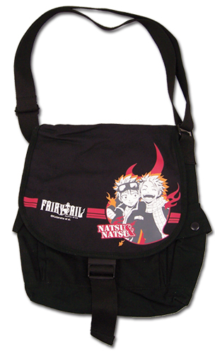 Fairy Tail - Natsu & Natsu Messenger Bag, an officially licensed Fairy Tail product at B.A. Toys.