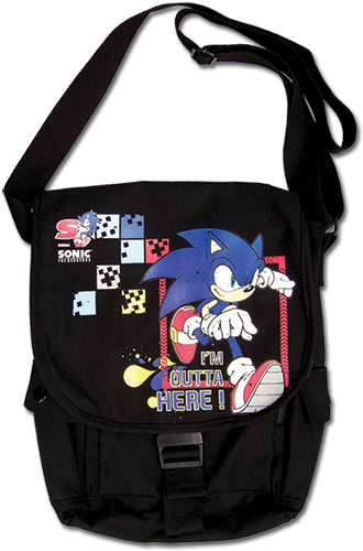 Sonic The Hedgehog - Sonic Run Away Messengr Bag, an officially licensed product in our Sonic Bags department.