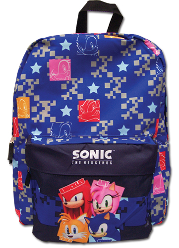 Sonic The Hedgehog - Pattern Backpack Bag, an officially licensed product in our Sonic Bags department.