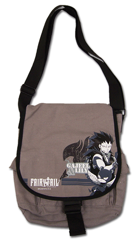 Fairy Tail - Gajeel & Lili Messenger Bag, an officially licensed product in our Fairy Tail Bags department.