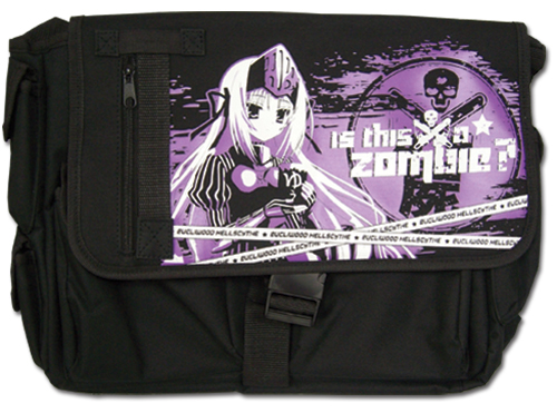 Is This A Zombie - Eu Purple Messenger Bag, an officially licensed product in our Is This A Zombie? Bags department.