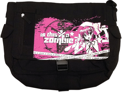 Is This A Zombie - Haruna Pink Messenger Bag, an officially licensed product in our Is This A Zombie? Bags department.