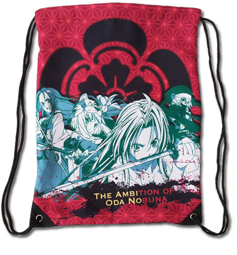 The Ambition Of Oda Nobuna - Oda Faction Drawstring Bag, an officially licensed product in our The Ambition Of Oda Nobuna Bags department.