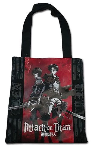 Attack On Titan - Eren & Levi Tote Bag, an officially licensed product in our Attack On Titan Bags department.