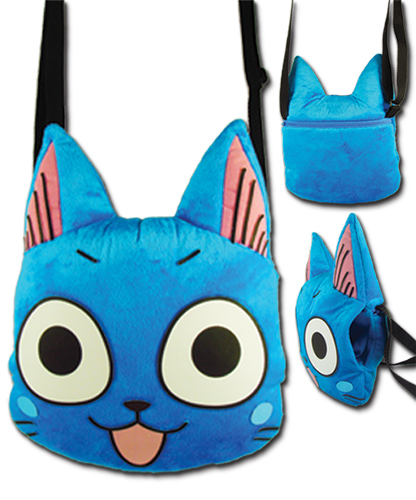 Fairy Tail - Happy Head Plush Bag, an officially licensed product in our Fairy Tail Bags department.