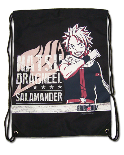Fairy Tail - Natsu Drawstring Bag, an officially licensed product in our Fairy Tail Bags department.