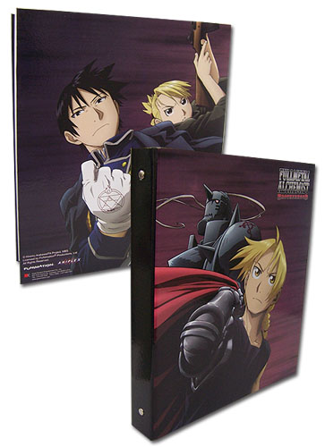 Fullmetal Alchmist Brotherhood Elric Brothers, Roy, & Riza Binder officially licensed Fullmetal Alchemist Binders & Folders product at B.A. Toys.