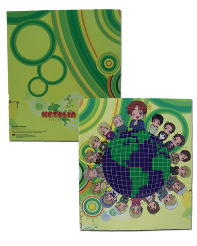 Hetalia Global Binder officially licensed product at B.A. Toys.