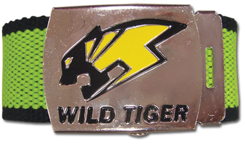 Tiger & Bunny Wild Tiger Logo Fabric Belt, an officially licensed product in our Tiger & Bunny Belts & Buckles department.