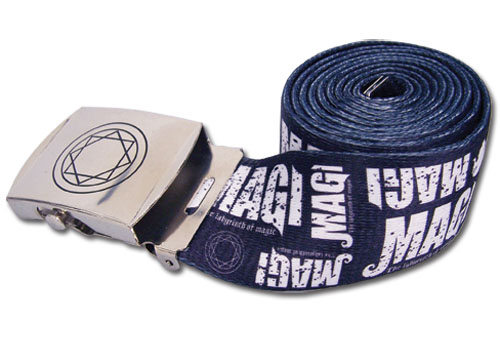 Magi - Logo Pattern Fabric Belt, an officially licensed product in our Magi Belts & Buckles department.