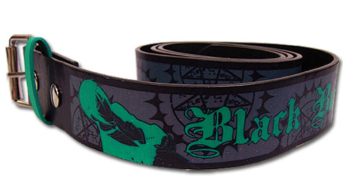 Black Butler - Sebastian Green Pu Belt M, an officially licensed Black Butler product at B.A. Toys.