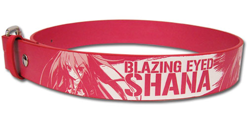 Shakugan No Shana - Blazing Eyed Shana Pvc Belt - Large, an officially licensed product in our Shakugan No Shana Belts & Buckles department.