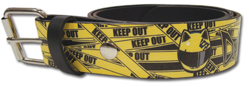Durarara - Celty Helmet Keep Out Pu Belt L officially licensed Durarara!! Belts & Buckles product at B.A. Toys.